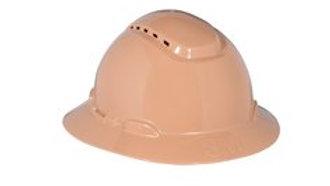 3M™ Full Brim Hard Hat H-811V, Tan 4-Point Ratchet Suspension, Vented
