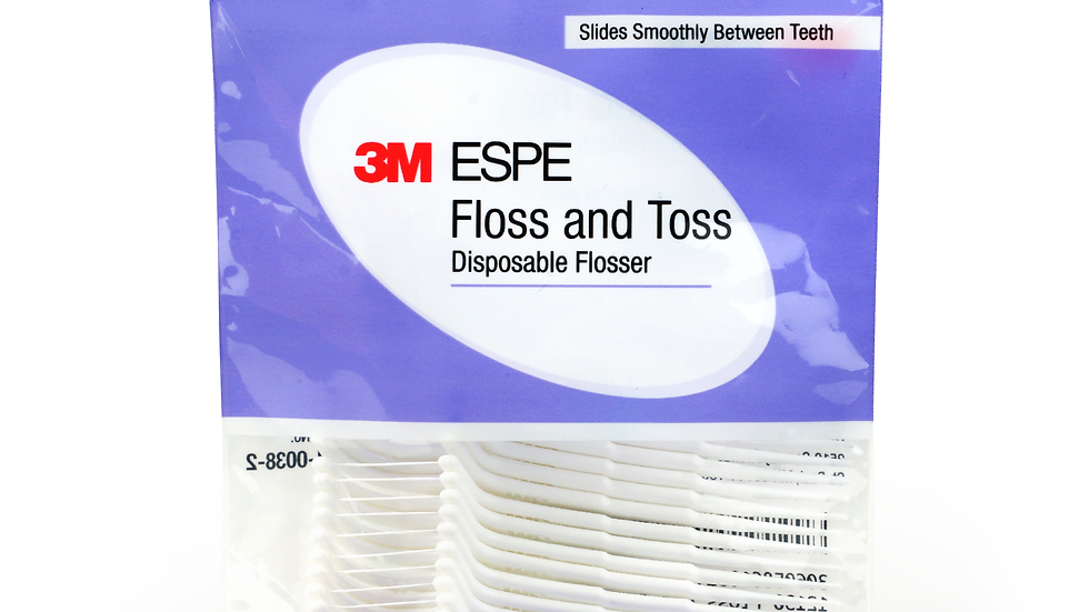 3M™ Floss And Toss Disposable Flossers, 12130, 1-30 Count Package