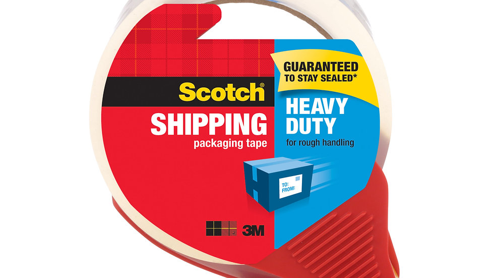 Scotch® Heavy Duty Shipping Packaging Tape 3850S-RD