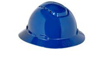 3M™ Full Brim Hard Hat H-810V, Navy Blue 4-Point Ratchet Suspension