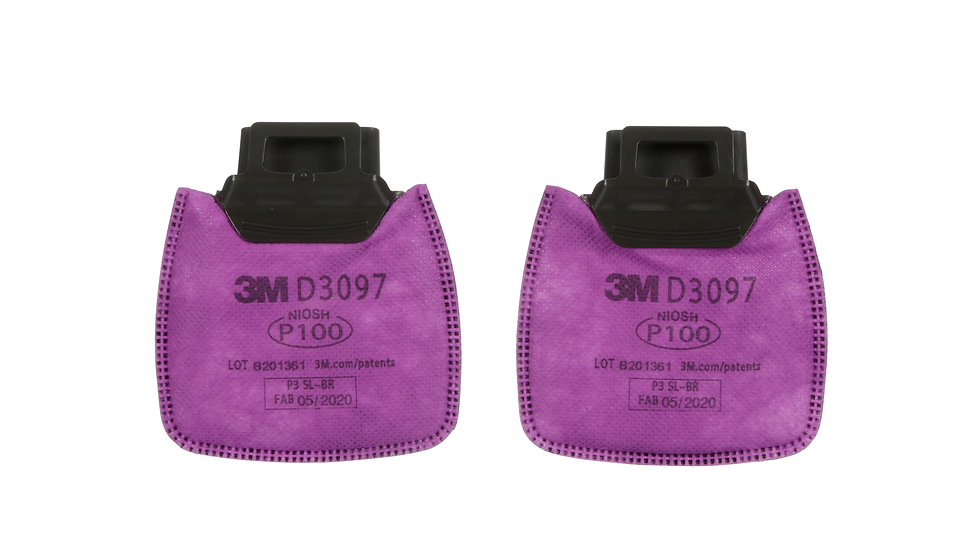3M Secure Click Particulate Filter P100 with