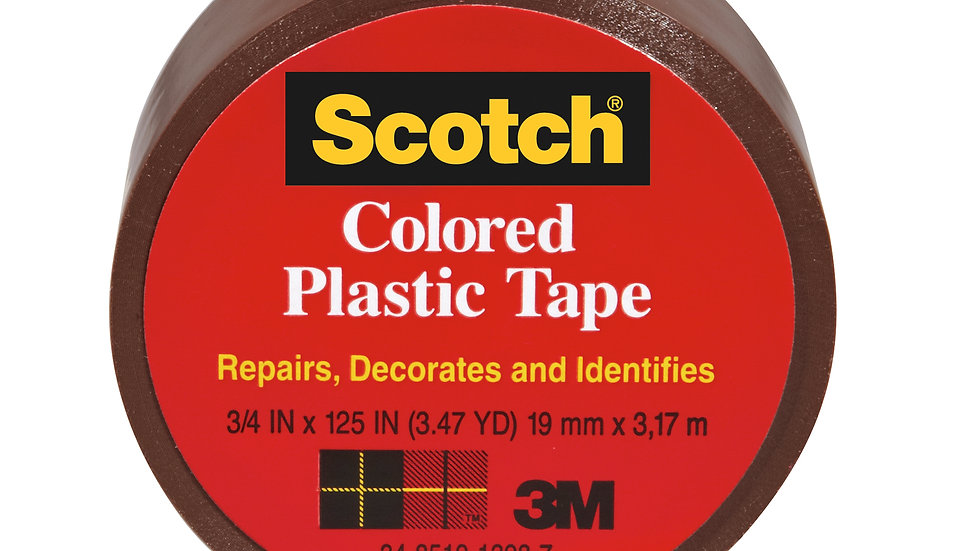 Scotch® Colored Plastic Tape 190BN, 3/4 in x 125 in (19 mm x 3,17 m)
