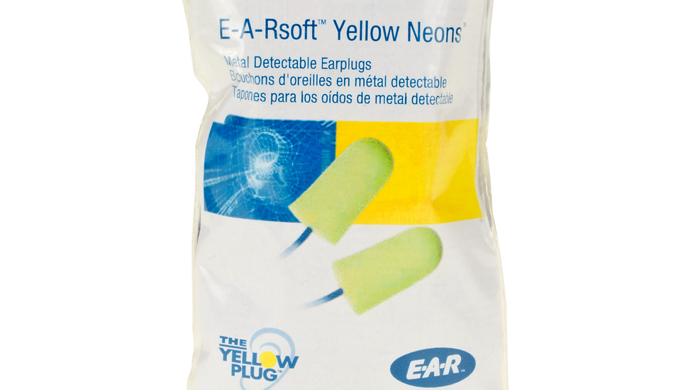 3M™ E-A-Rsoft™ Earplugs VP311-4106, Metal Detectable, Corded