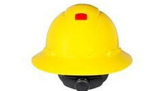 3M™ Full Brim Hard Hat H-802R-UV, Yellow 4-Point Ratchet Suspension