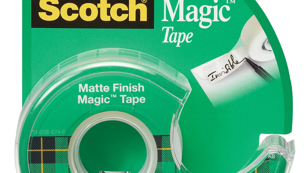 Scotch® Magic™ Tape 119, 1/2 in x 800 in (12,7 mm x 20,3 m)