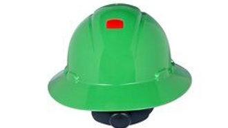 3M™ Full Brim Hard Hat H-804R-UV, Green 4-Point Ratchet Suspension