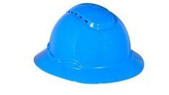 3M™ Full Brim Hard Hat H-803V, Blue 4-Point Ratchet Suspension, Vented,