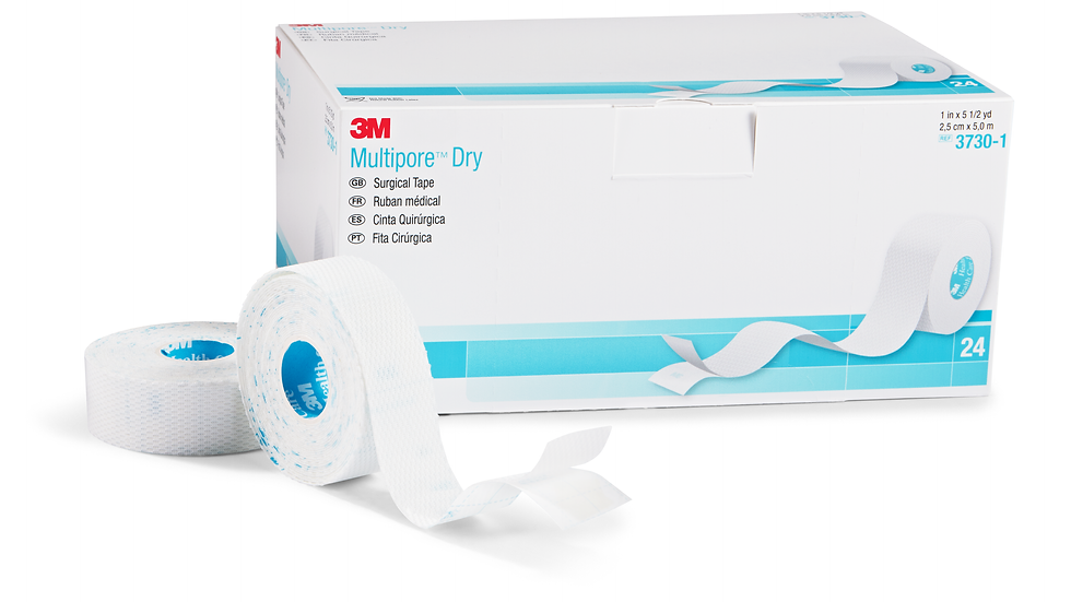 3M™ Multipore™ Dry Surgical Tape 3730-1, 1 IN x 5.5 YRD, 24 rolls/BX