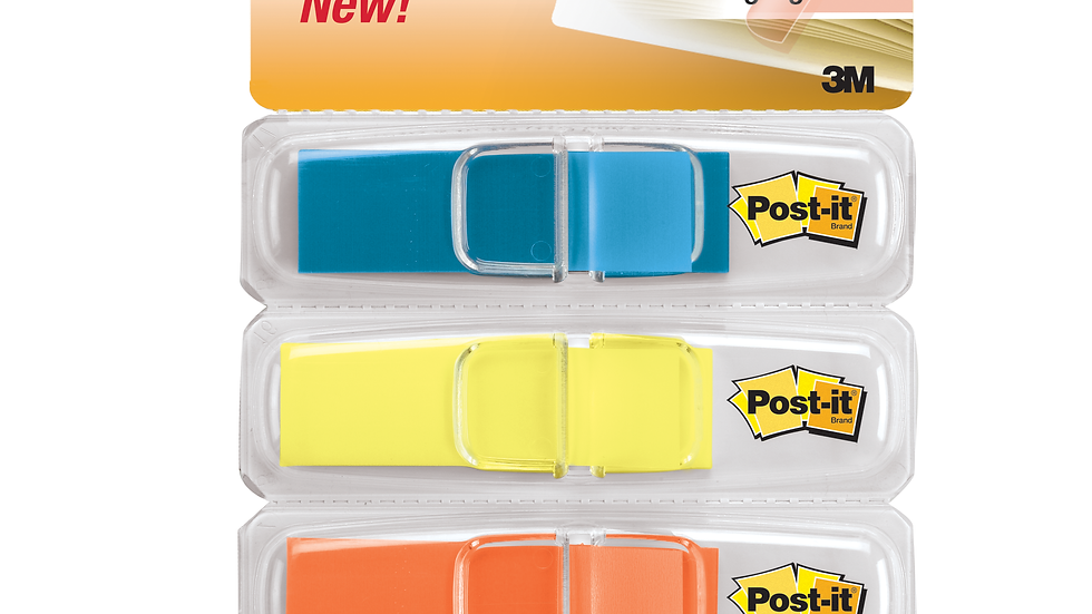 Post-it® Flags 683-4ABX, .47 in. x 1.7 in. Assorted Brights
