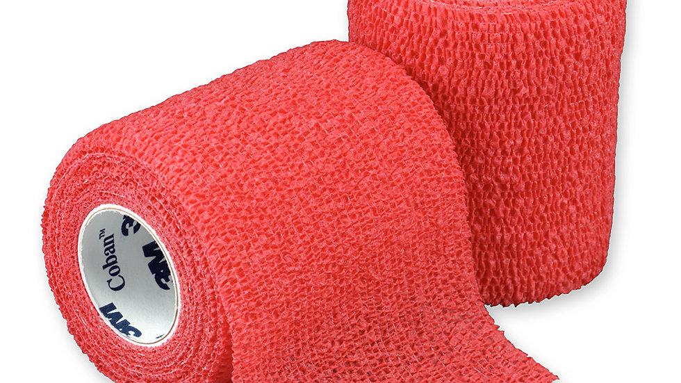 3M™ Coban™ Self-Adherent Wrap 1583R, Red, 3 Inch x 5 Yards, 24 Bags/Case
