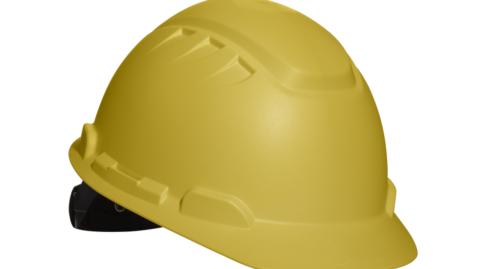 3M™ Elevated Temperature Hard Hat H-702T, Yellow, 4-Point Ratchet Suspension