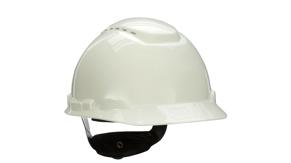 3M™ Hard Hat with Uvicator H-701V-UV, Vented ,White, 4-Point Ratchet Suspension
