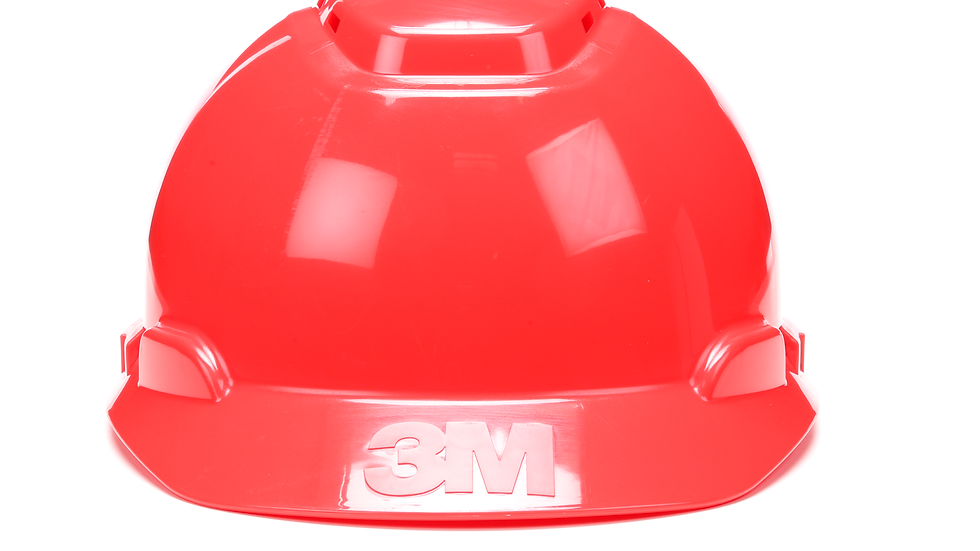 3M™ Hard Hat H-705V-UV, Red, 4-Point Ratchet Suspension, Vented, with Uvicator