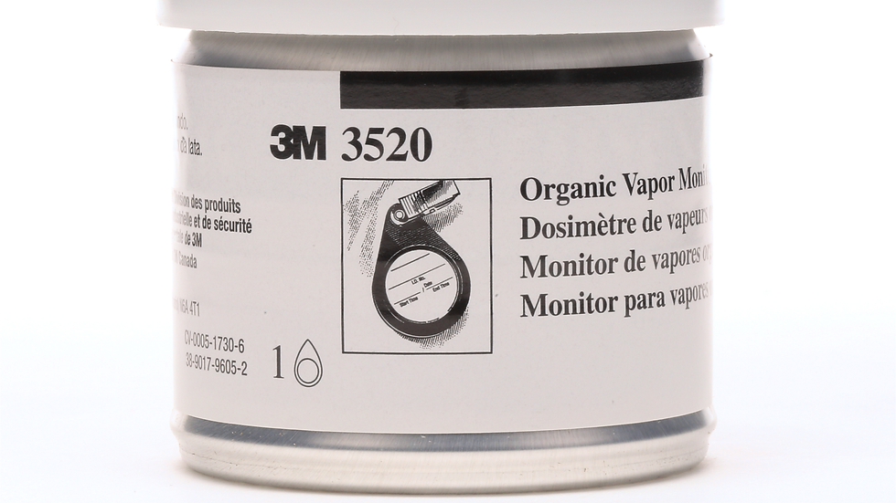 3M™ Organic Vapor Monitor 3520 with Backup Section, 5 EA/Case