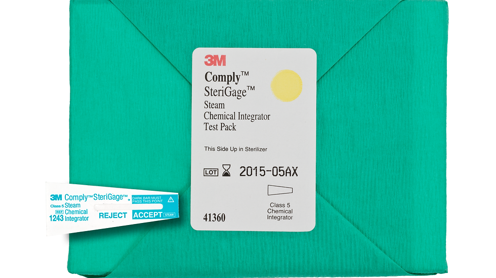 3M™ Comply™ SteriGage™ Steam Chemical Integrator Test Pack 41360
