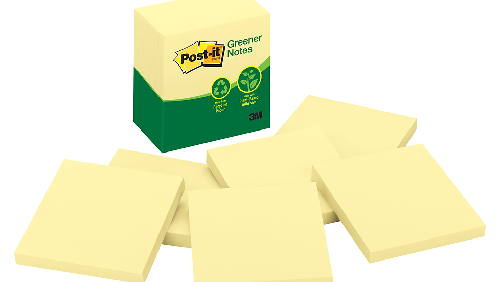 Post-it® Notes 5416-RP-Y, 3 in x 3 in Canary Yellow