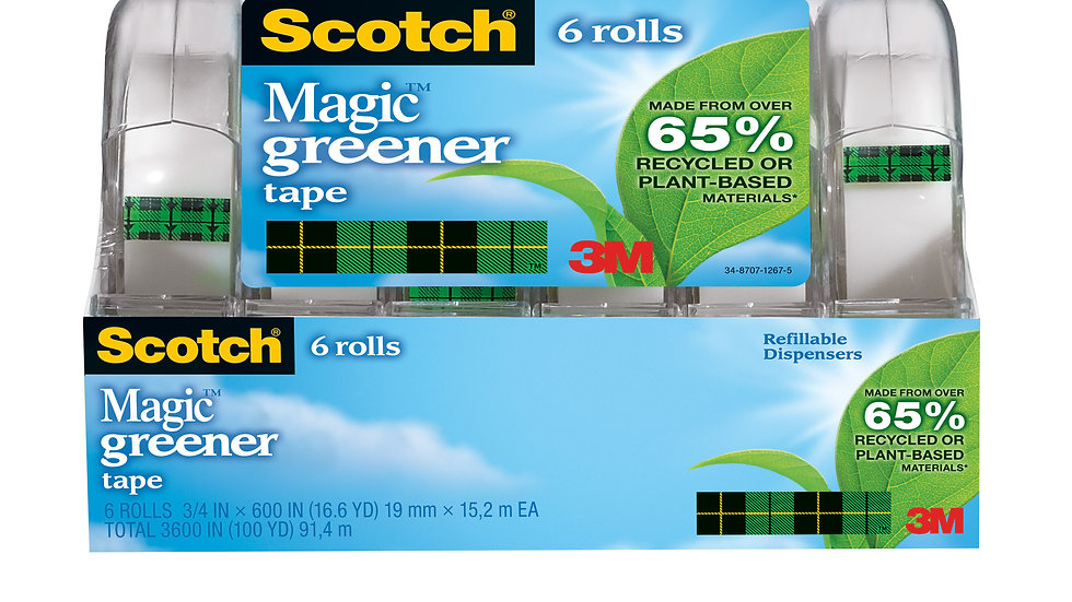 Scotch® Magic™ Greener Tape 6123, 3/4 in x 600 in (19 mm x 15,2 m)