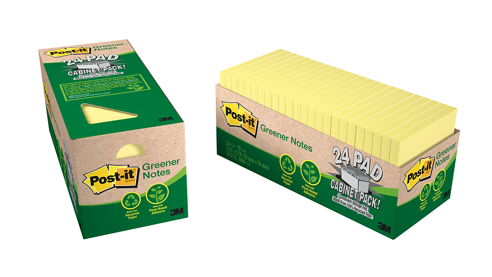 Post-it® Notes 654R-24CP-CY, 3 in x 3 in Canary Yellow