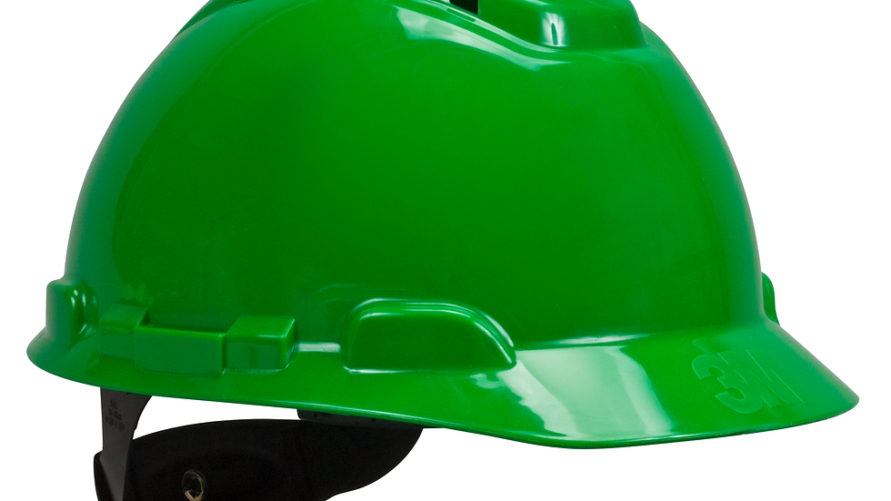 3M™ Hard Hat H-704V, Vented Green 4-Point Ratchet Suspension, 20 EA/Case