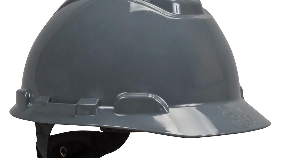 3M™ Hard Hat H-708R, Gray 4-Point Ratchet Suspension, 20 EA/Case