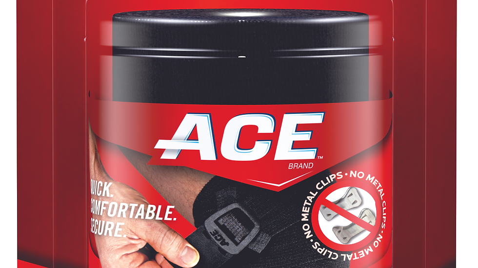 ACE™ Brand Black Elastic Bandage with ACE™ Brand Clip 207467, 3 Inch