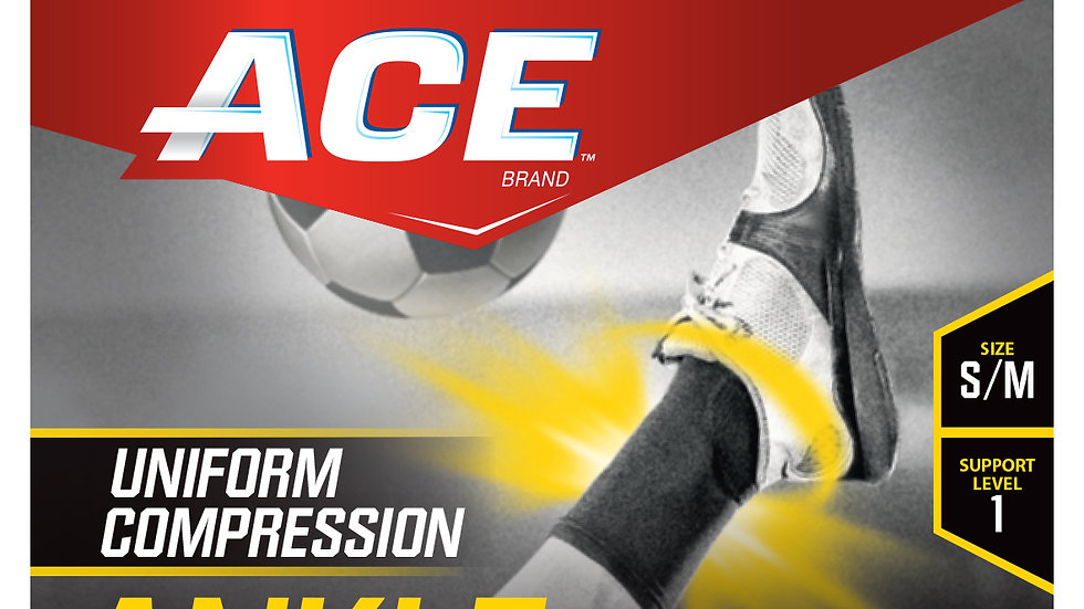 ACE™ Compression Ankle Support, 901001, Small / Medium