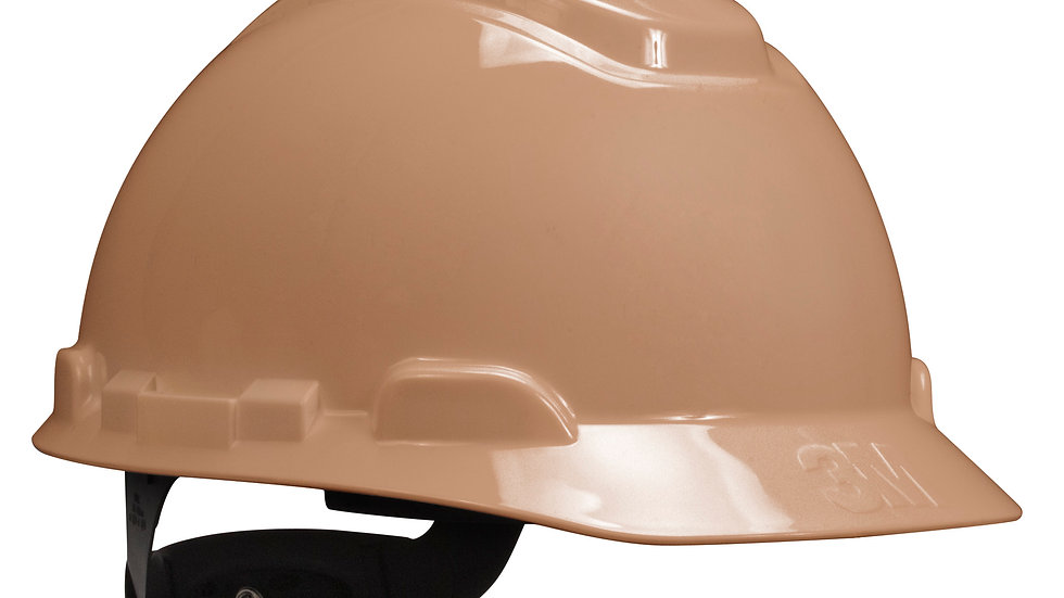 3M™ Hard Hat H-711R-UV, Tan, 4-Point Ratchet Suspension, with Uvicator,
