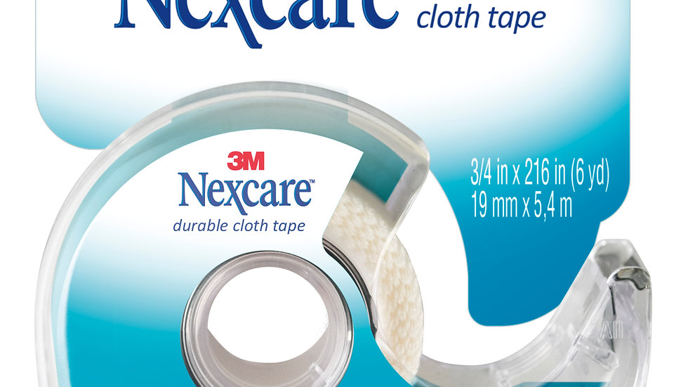 Nexcare™ Durable Cloth First Aid Tape Dispenser 799, 3/4 in x 6 yd