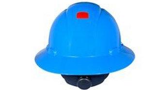 3M™ Full Brim Hard Hat H-803R-UV, Blue 4-Point Ratchet Suspension with Uvicator