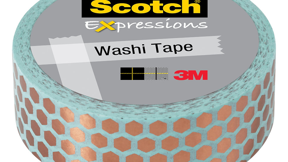Scotch® Expressions Washi Tape C614-P7, .59 in x 275 in (15 mm x 7 m)