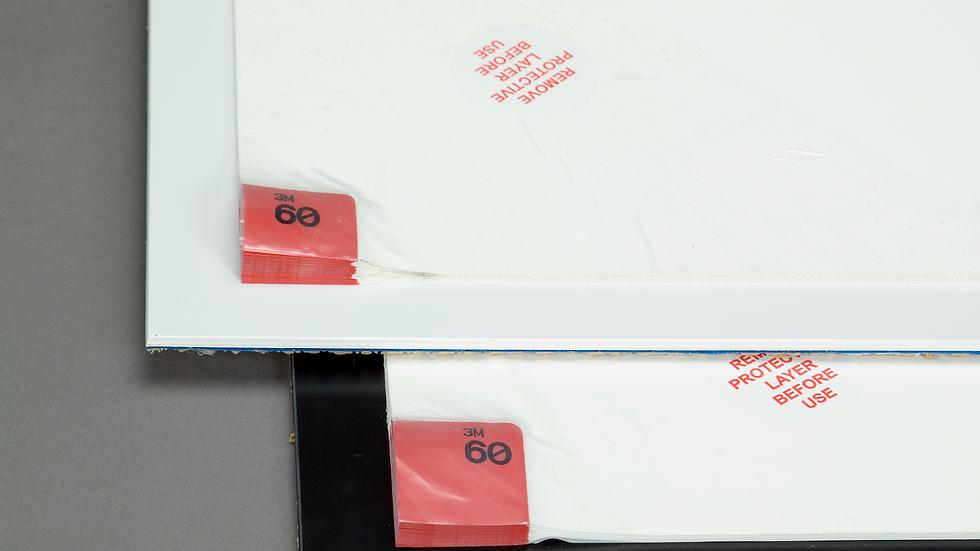 3M™ Clean-Walk Framed Mat 5840, White On Black, 31-1/2 in x 25-1/2 in, 1/Case