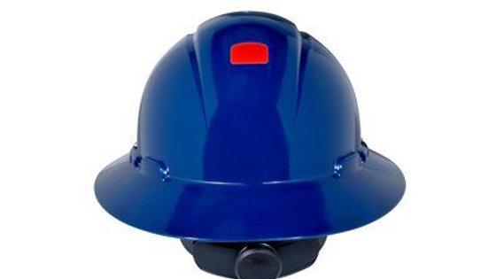 3M™ Full Brim Hard Hat H-810R-UV, Navy Blue 4-Point Ratchet Suspension