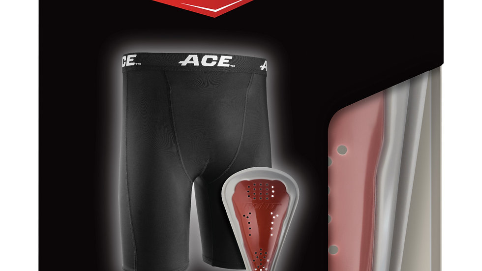 ACE™ Compression Shorts & Protective Cup 908007, Teen Large/X-Large