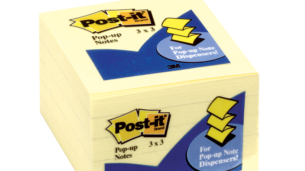 Post-it® Pop-up Notes 3301-5YW 3x3 in Canary Yellow