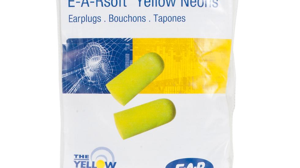 3M™ E-A-Rsoft™ Yellow Neons™ Earplugs VP312-1250, Uncorded, Vending Pack