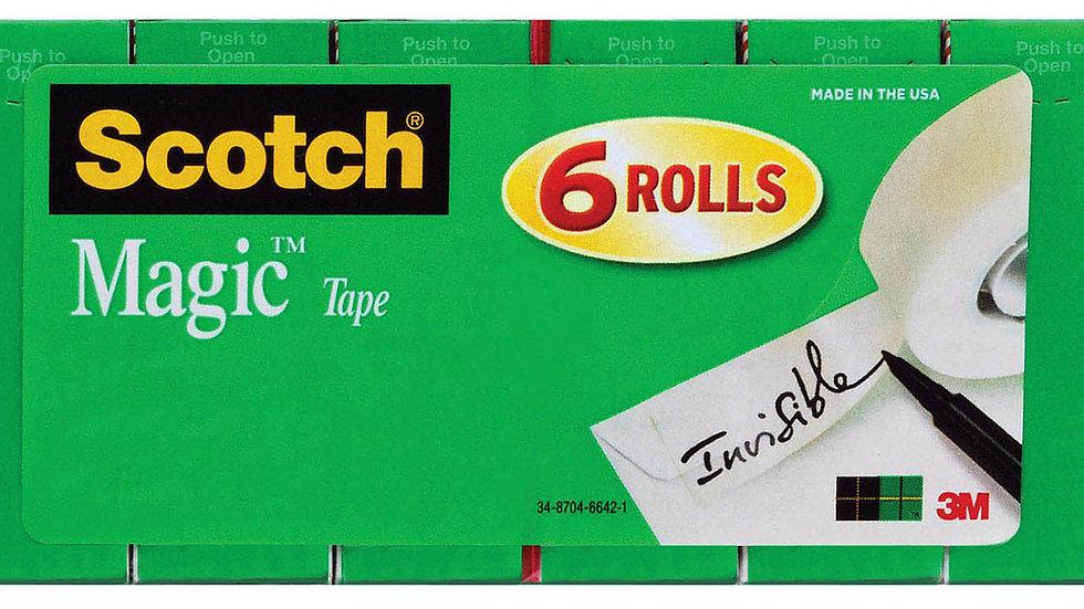 Scotch® Magic™ Tape 810K6 6 rolls of 3/4 in x 1000 in