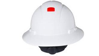 3M™ Full Brim Hard Hat H-801V-UV, White 4-Point Ratchet Suspension, Vented