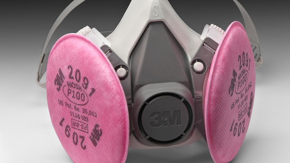 3M™ Half Facepiece Reusable Respirator Assembly 6191/07001(AAD), P100,