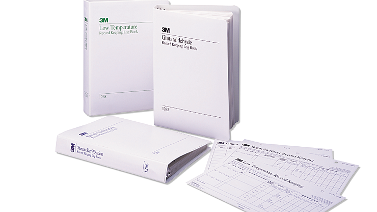 3M™ Attest™ Log Book for Steam Sterilizers 1266-A, 50 Sheets