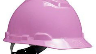 3M™ Hard Hat H-713P, Pink, 4-Point Pinlock Suspension, 20 EA/Case