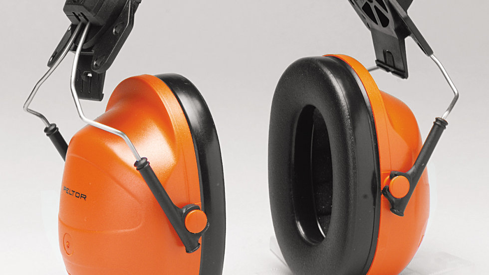 3M™ PELTOR™ Hi-Viz Earmuffs H31P3E, Hard Hat Attached, 10 EA/Case