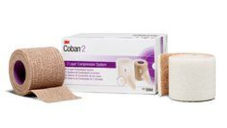 "3M™ Coban™ 2 Two-Layer Compression System 2092, 2"", 1 Kit/Carton 8 Cartons/Case"