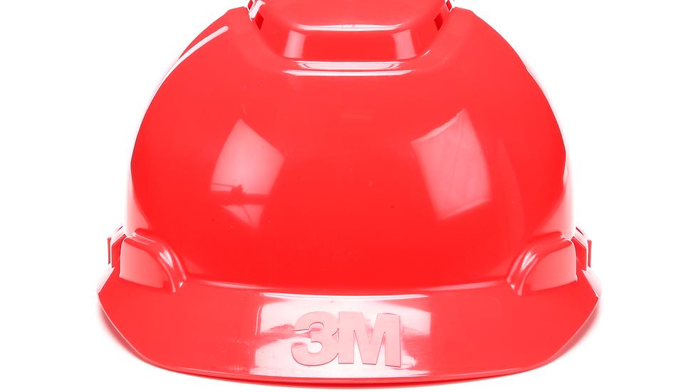 3M™ Hard Hat H-705V, Red, 4-Point Ratchet Suspension, Vented, 20 EA/Case
