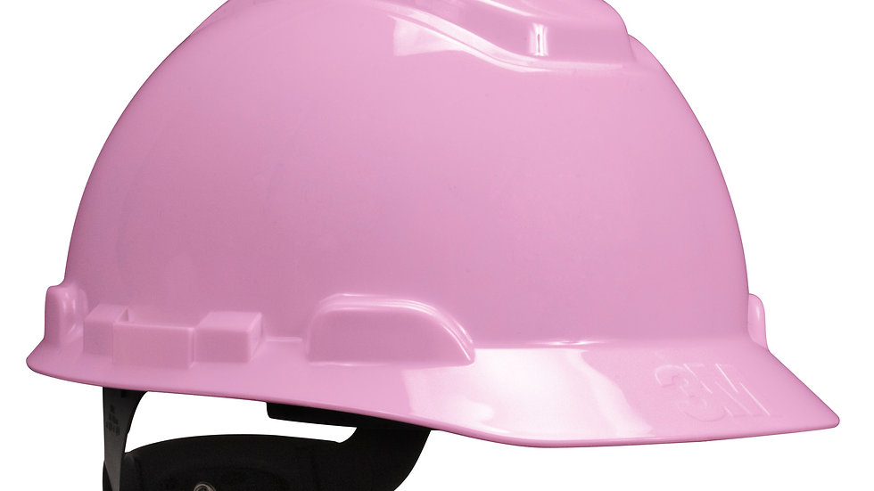3M™ Hard Hat H-713R, Pink, 4-Point Ratchet Suspension, 20 EA/Case