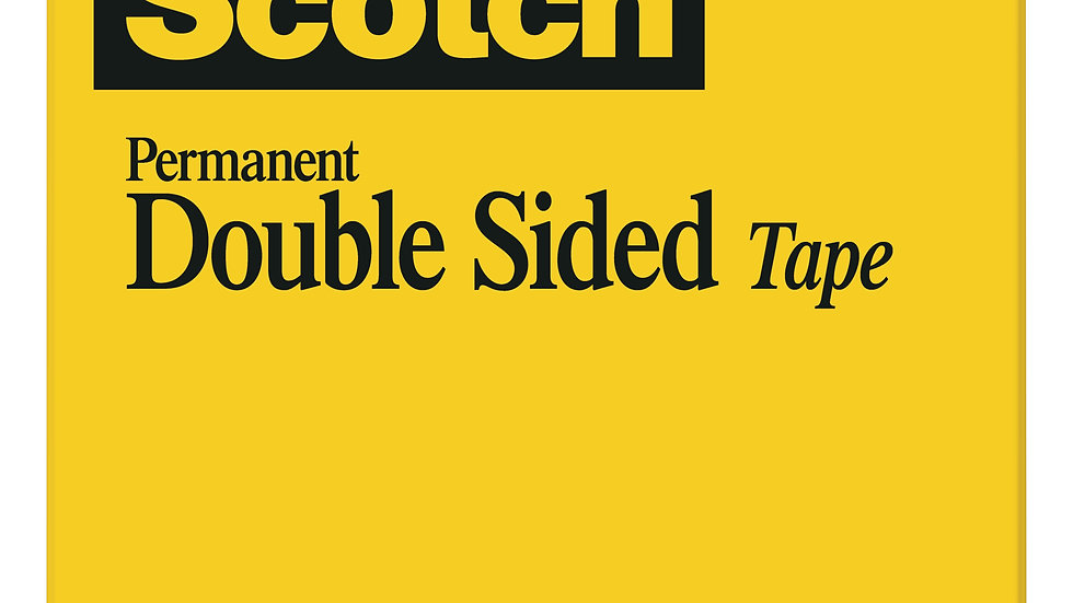 Scotch® Double Sided Tape 665, 1/2 in x 900 in, Boxed