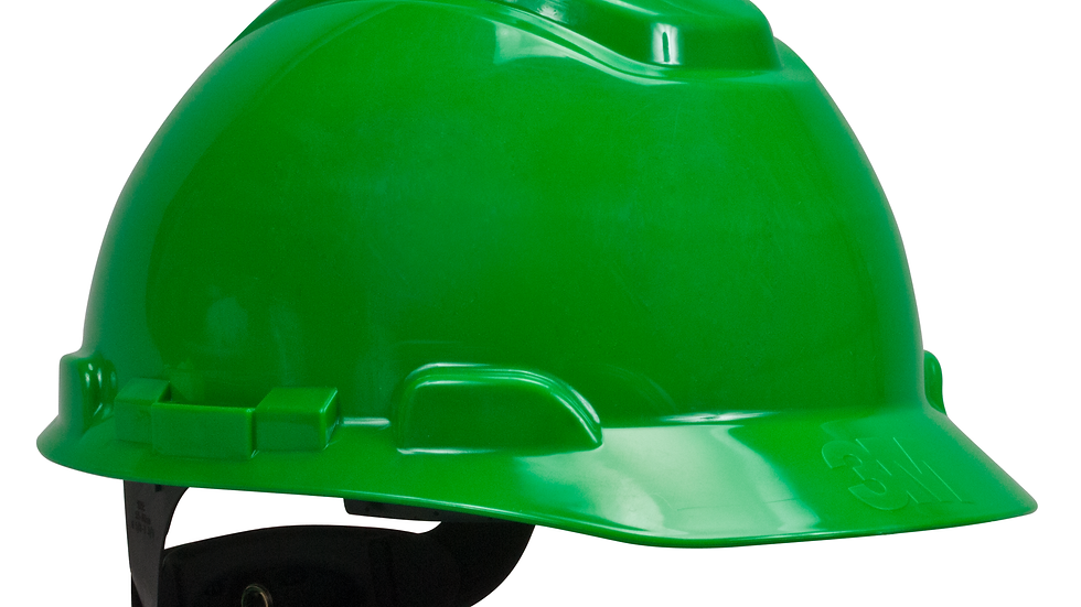 3M™ Hard Hat with Uvicator H-704R-UV, Green, 4-Point Ratchet Suspension