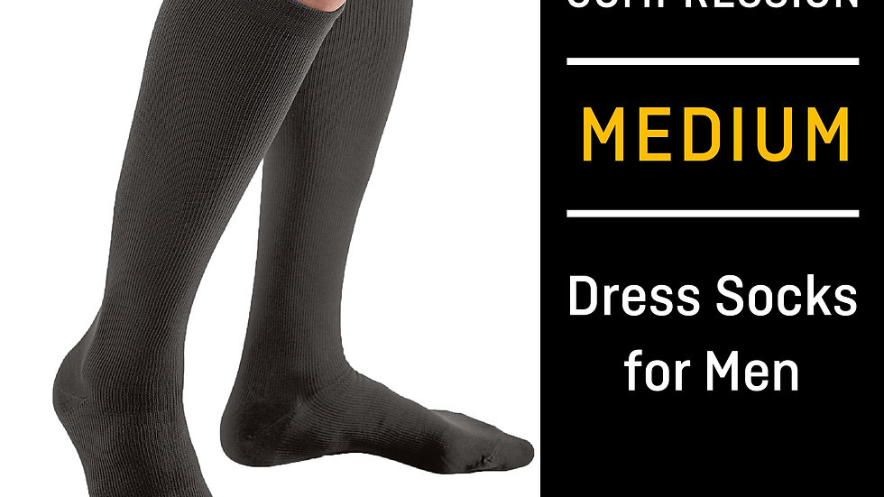 FUTURO™ Dress Socks for Men, 71035BLEN, Medium, Black
