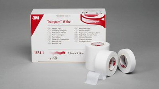 3M™ Transpore™ White Surgical Tape 1534-2