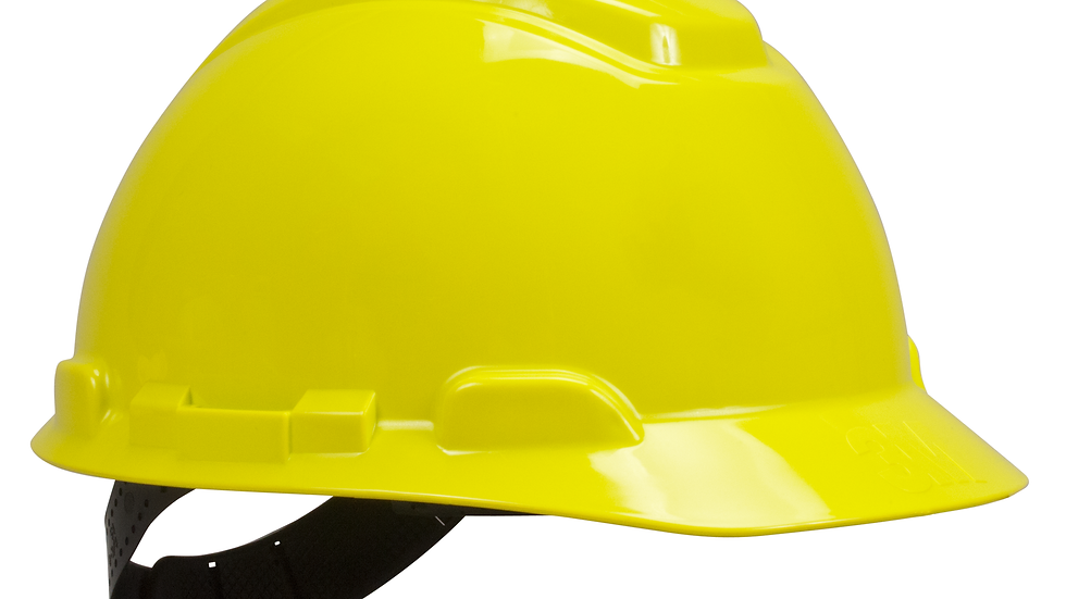 3M™ Hard Hat H-709P, Yellow, 4-Point Pinlock Suspension, 20 EA/Case
