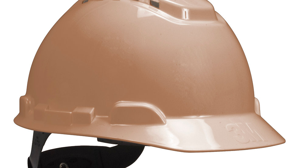 3M™ Hard Hat H-711V,Tan, 4-Point Ratchet Suspension, Vented, 20 EA/Case